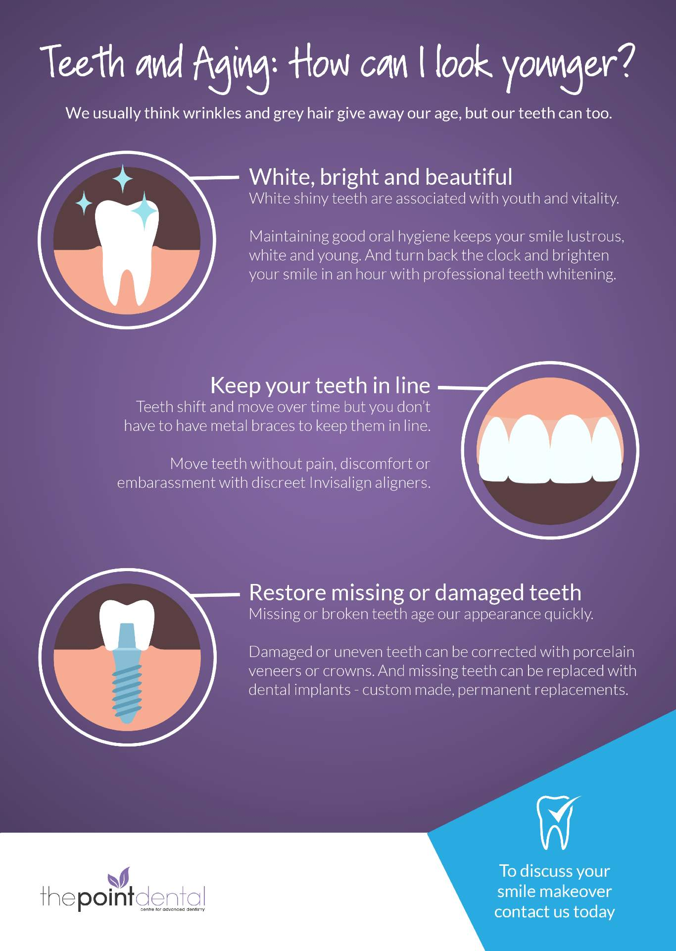 teeth and aging infographic