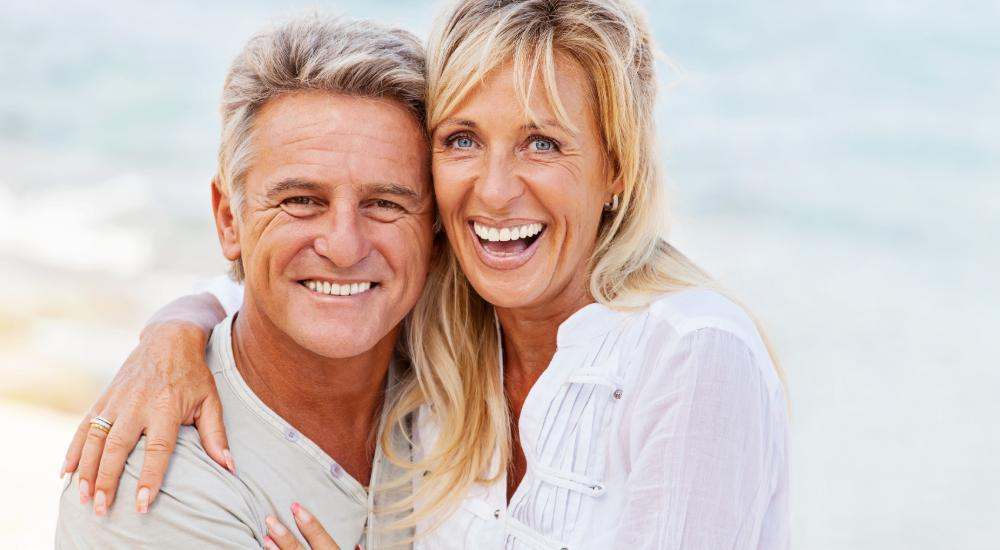 Couple with perfect smiles